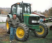Dan Yarnick and one of his tractors.