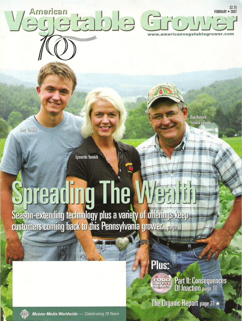 American Vegetable Grower Magazine - Cover